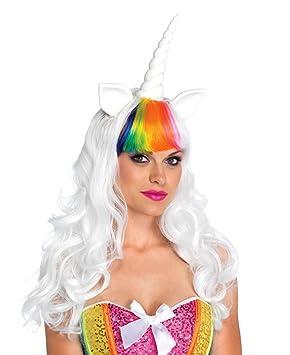 Leg Avenue Unicornio de Peluca y Arco Iris de Cola de Caballo