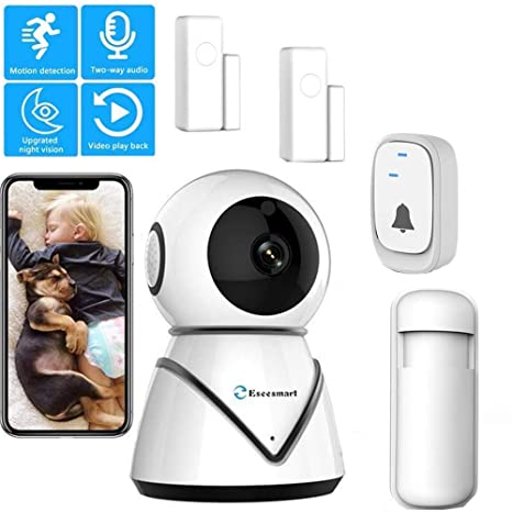 2019 NEW Wireless Security Alarm System WiFi IP Security Camera System Home Entry Spy Camera for Home/School/Office DIY Kit Sound/Motion/Detection