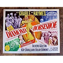 DIAMOND HORSESHOE '45 TITLE CARD POSTER ~ SEXY BETTY GRABLE ROMANTIC MUSICAL