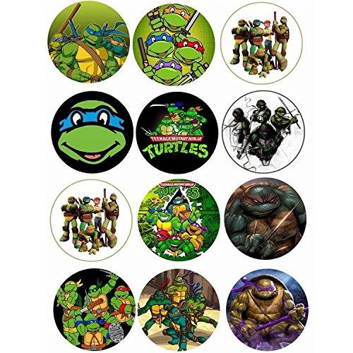 mytorten País Ninja Turtles Tema Cupcake/Muffin aufleger ...