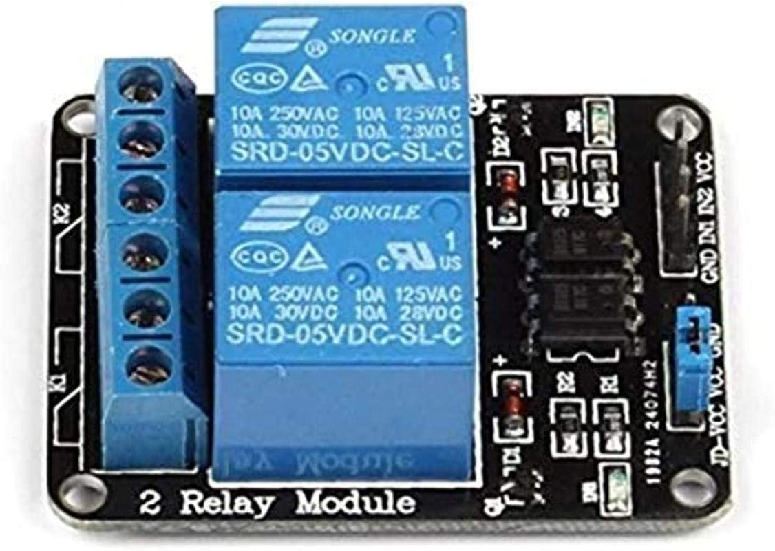 5V Two 2 Channel Relay Module With optocoupler For PIC AVR DSP ARM Arduino L1ST