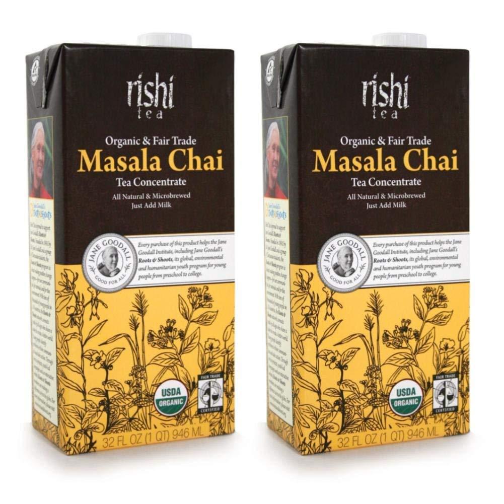 Rishi Tea Organic Concentrate Masala Chai Tea - 32 oz (Pack of 2)