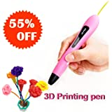3D Drawing Printing Sculpting Pen, 3D Doodler Printer Pens Kit, Create Arts Crafts, 2018 Creative present for kids, best birthday present for girls 4 8 10 14 16 years old -Gift Packing for kids (Pink)