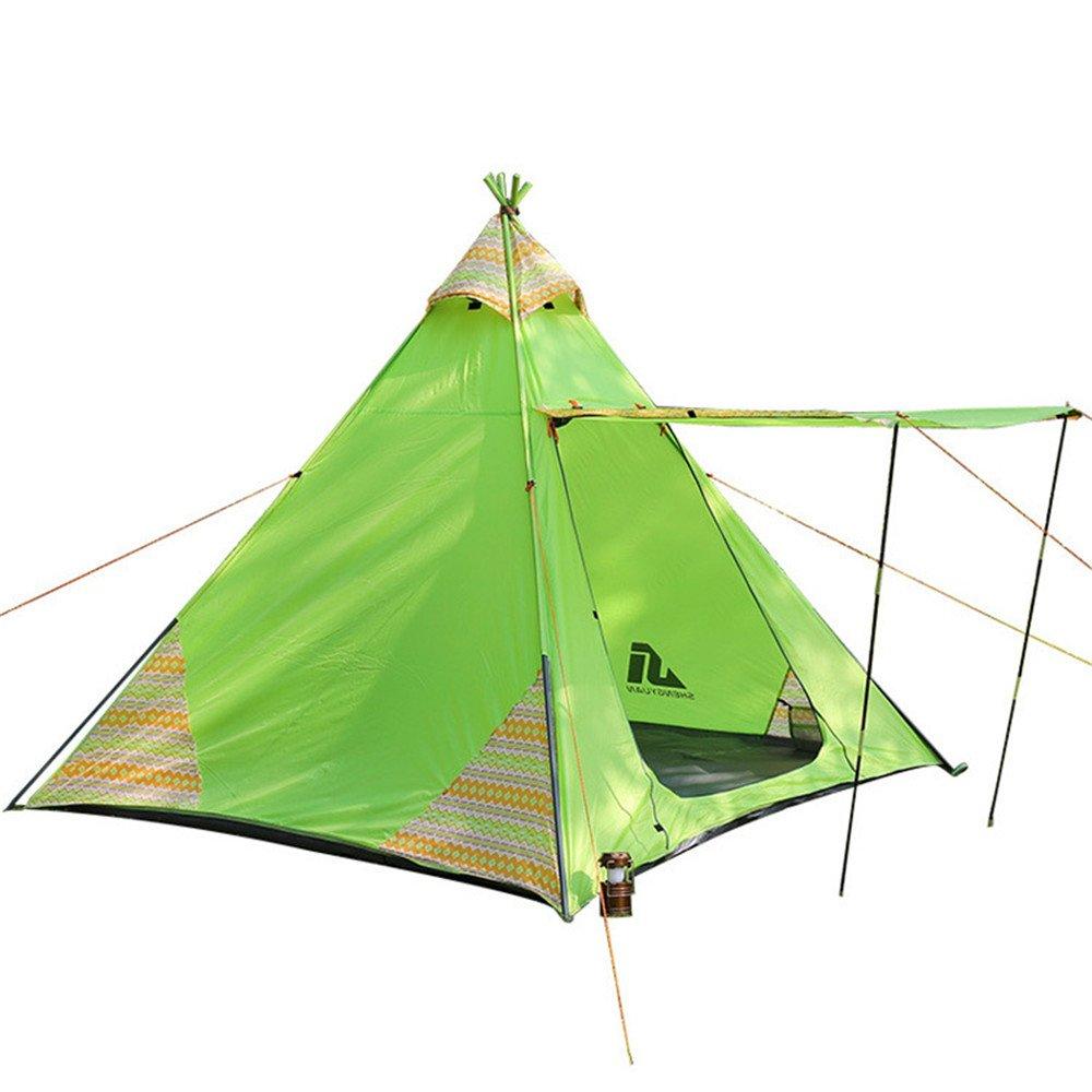 3-4人物丈夫なテントダブルレインプロテクションバックパックテント/組み立てが必要超軽量キャンプ用トラベル、サンシェードモスキート用防水   B07C165KDN