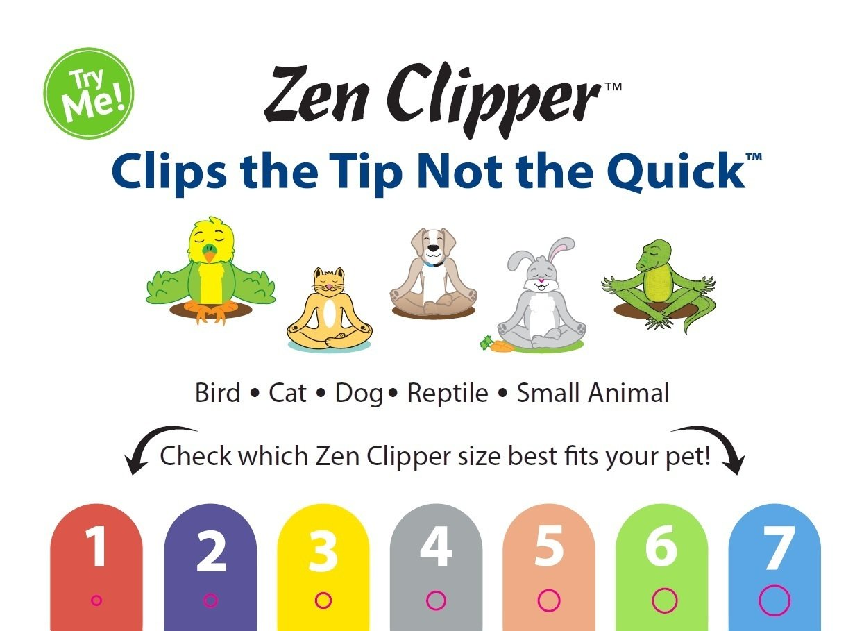 Zen Clipper Pet Nail Trimmers for Kittens, Birds Other Small Animals - the Worry-Free Nail Scissors -Unique Blade Clips the Tip Not the Quick - Stress/Injury-Free Nail Cutting and Grooming - 2m by Zen Clipper (Image #4)