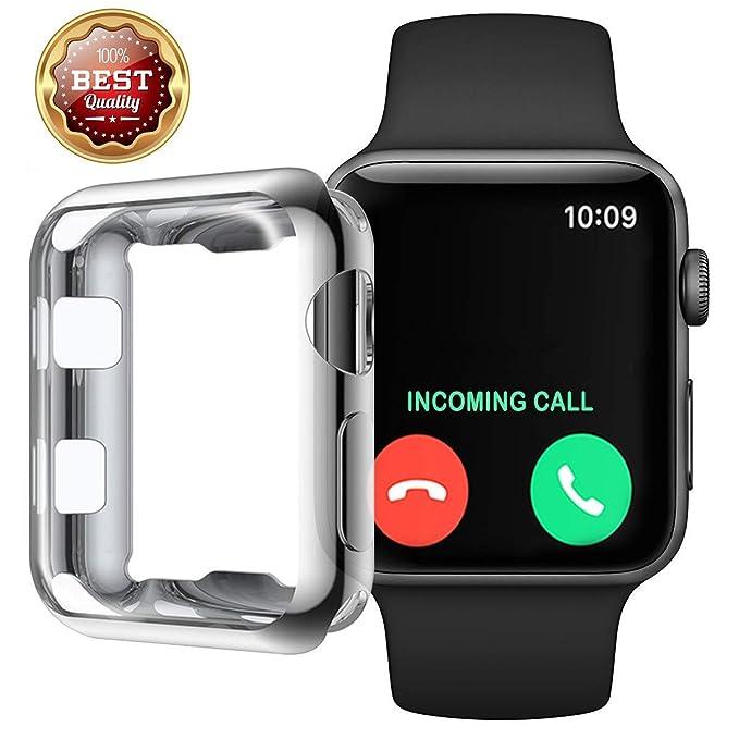 buy online a3f0f 245a1 61Aanib for Apple Watch 38mm/42mm Waterproof Bulletproof Glass 3D ...