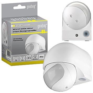 Detector de movimiento por infrarrojos Slim EPN LED apto para uso interior y exterior), rango Detector de movimiento Oda (Blanco) Slim: Amazon.es: ...