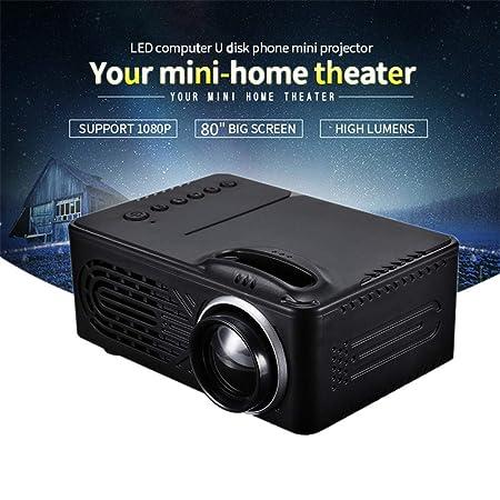 Proyector, HD Video Proyector Cine en casa LCD Soporte para ...
