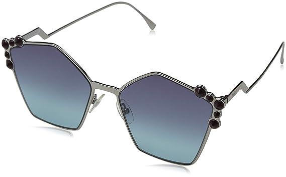 5344de3052 Fendi FF0261 S 6LB Ruthenium FF0261 S Square Sunglasses Lens ...