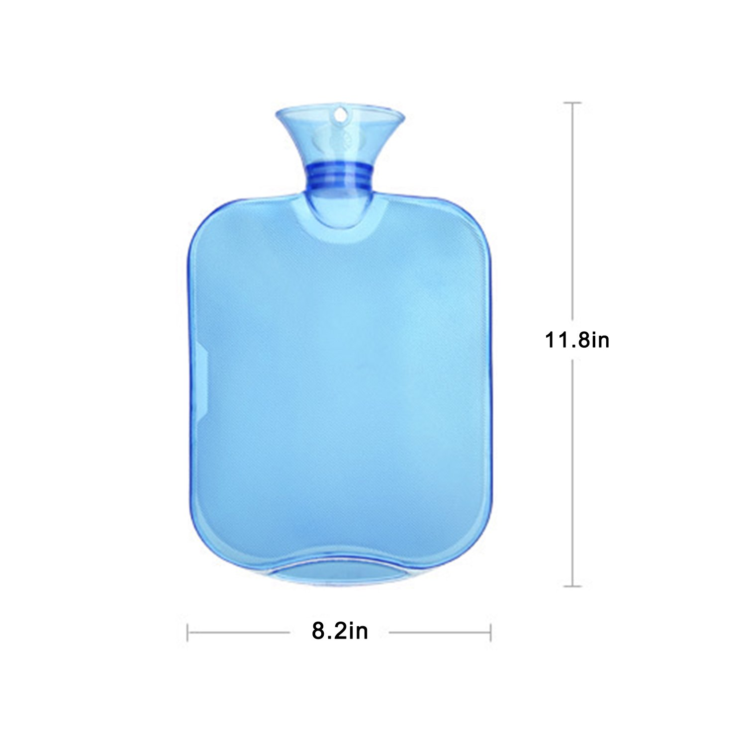 All one tech Transparent Classic Rubber Hot Water Bottle with Knit Cover - Blue by All one tech