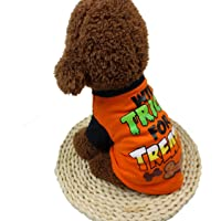 Barlingrock Dog Clothes, Pet Clothes for Small Dog, Dog Vest Dog T-Shirt, Pet Dog Puppy Shirt, Cool Halloween Cute Pet T Shirts Pet Clothing Small Puppy Costume Summer Apparel