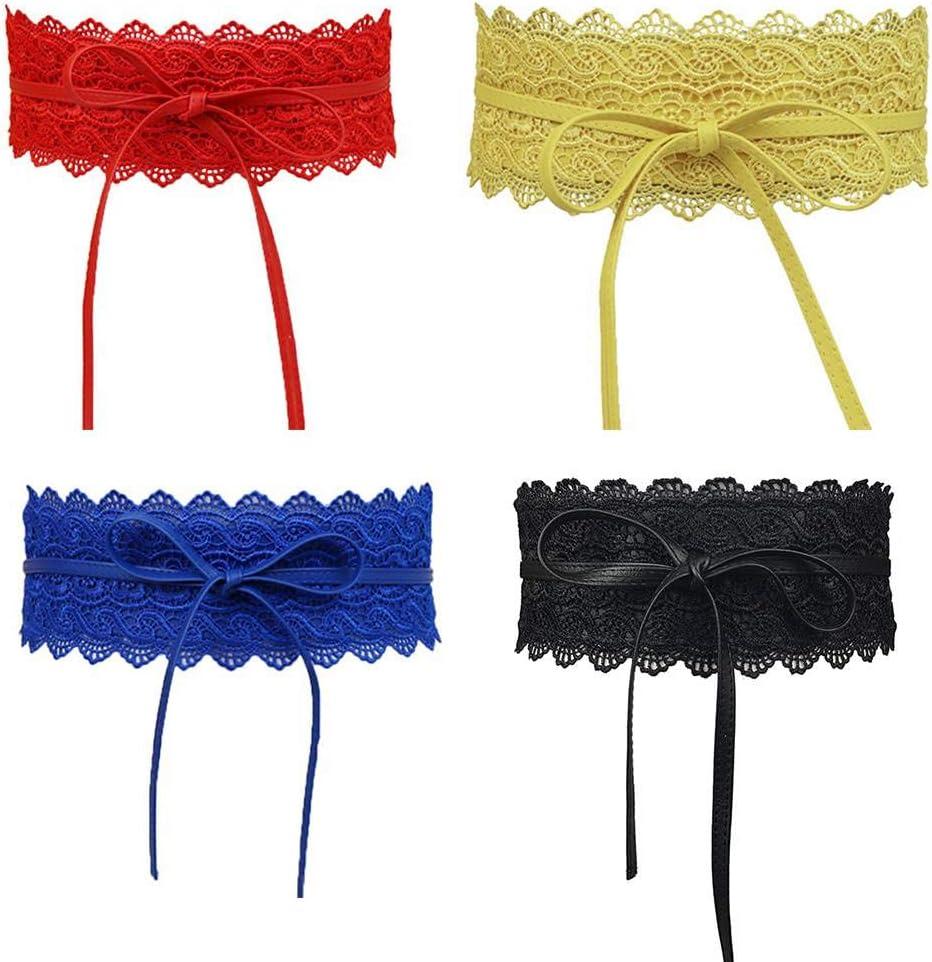 beIilan Large Dentelle Corset Ceinture Femme Tie Auto Cinch Waistband Ceintures pour Femmes Robe de mari/ée Taille Band