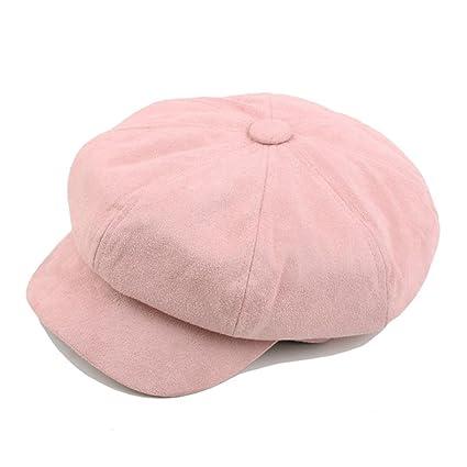 Sannysis Sombreros octogonales Vintage Ocasionales, bombin Sombrero Sombrero de Copa Cowboy Gorras Hombre Invierno Beisbol