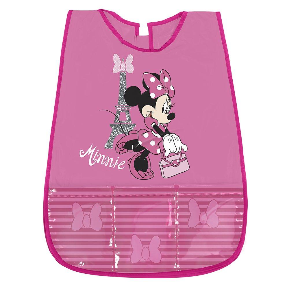 Tablier Minnie pour Enfant - Blouse Fille Impermeable PVC avec Poche Avant - Adapté pour protéger des taches et peinture - 3/5 Ans - Rose - Perletti 99258