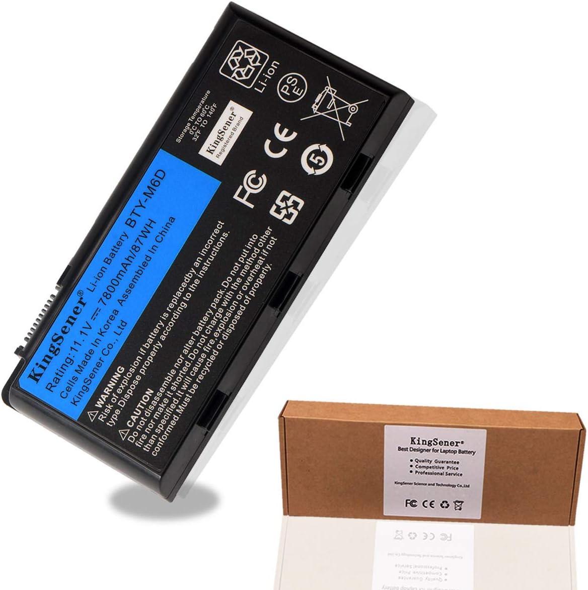 Kingsener BTY-M6D Laptop Battery for MSI GT60 GT70 GX780R GX680 GX780 GT780R GT660R GT663R GX660 GT680R GT783R 9CELLS