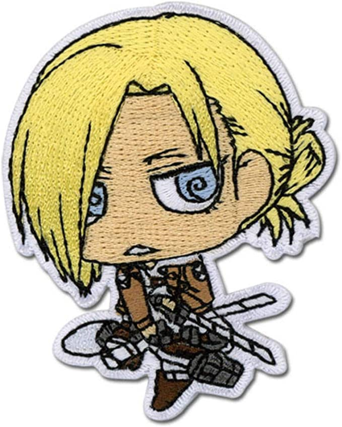 Gea Annie Flying Attack On Titan Chibi Themed Decorative Anime Patch Sd Officially Licensed Iron On Embroidered Applique Arts Crafts Sewing Amazon Com