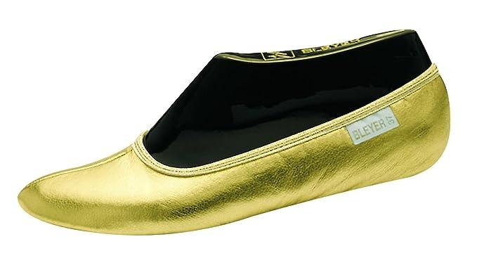 BLEYER Bauchtanzschuhe Gymnastikschuhe orientalischer Tanz-Schuhe, silber (36)