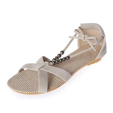 da1e2d7e0509d ... Fullkang Women Cute Rhinestone Owl Sweet Sandals Clip Toe Beach Sandals  (US 5.5