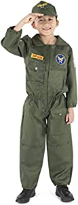 Dress-Up-America Fighter Pilot Costume - Air Force Pilot Costume For Boys And Girls
