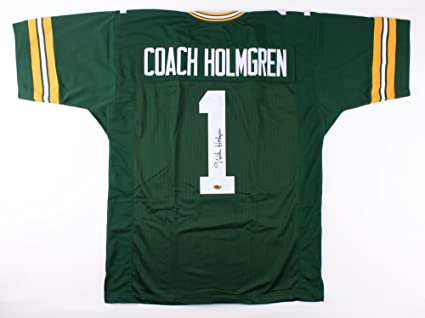 new product 1d89a 7ce39 Mike Holmgren Signed Green Bay Packers