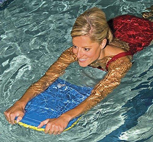 (Power Systems Kickboard for Swim Fitness Training, 19 x 12 x 1.5 Inches, Blue/Yellow (86690) )