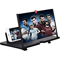 12'' 3D Screen Magnifier for Cell Phone, HD Smart Phones Screen Enlarger Projector Movie Amplifier with Foldable Stand…