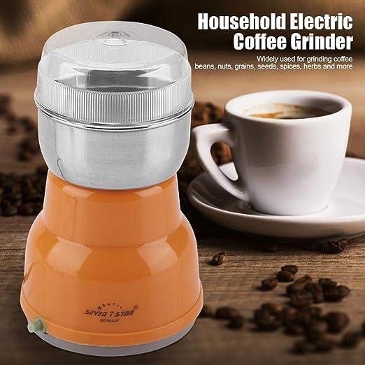 EU Plug 220-240V Black Molinillos de caf/é el/éctrico molinillo de especias con hoja de acero inoxidable para granos de caf/é Especias Molinillo de granos de caf/é de 300 vatios