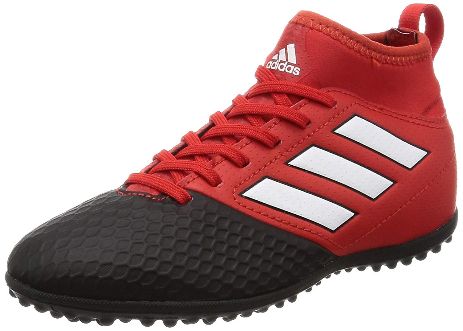 adidas Boys' Ace 17.3 JR Turf Football Boots - Youth - Red/Footwear White/Core Black - US Kids Shoe Size 4.5