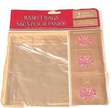 Amazon.com: Cesta de plástico transparente bolsas, 2-ct ...