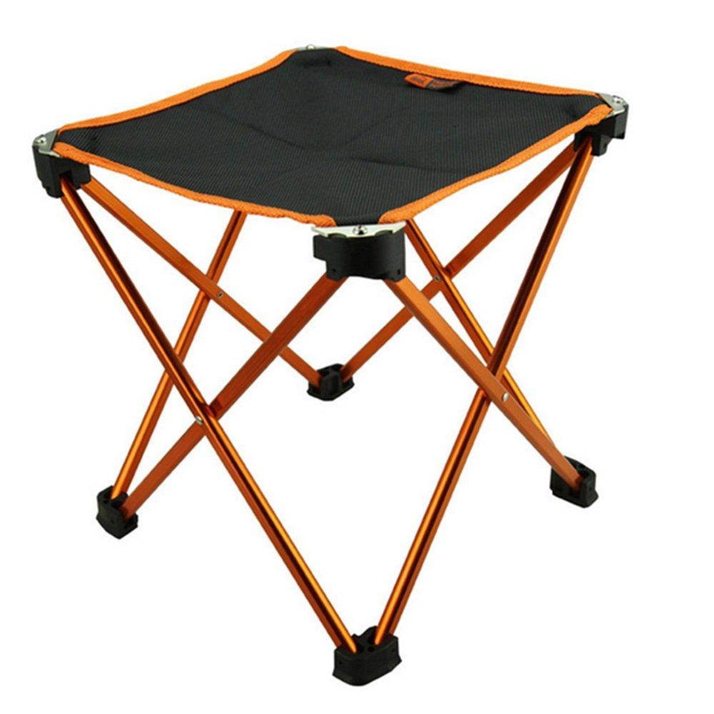 Suheポータブル軽量折りたたみキャンプスツール椅子Seat with a carryバッグ航空アルミニウム&オックスフォード布釣りピクニックバーベキューハイキングGardenビーチアウトドア釣りキャンプ B0734G3C49  オレンジ