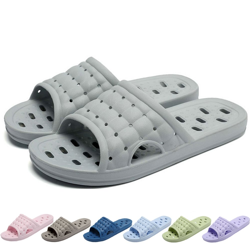 Feicy Women Men Summer Slippers Non-Slip Shower Sandals House Quickly Drying Bath Slippers