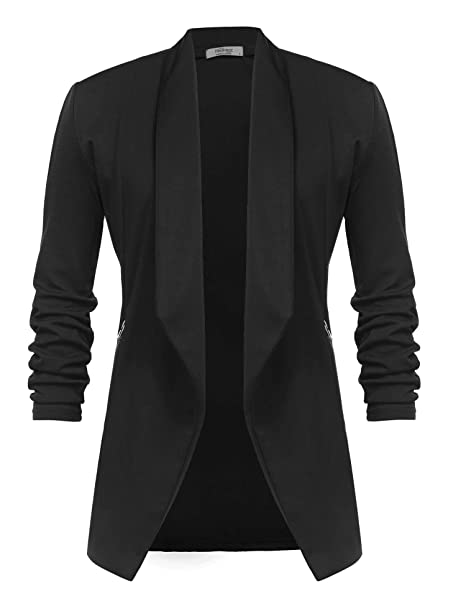4812283749 UNibelle Blazer Donna Casual Giacche da Abito Slim Fit Giacca Manica a 3/4  Elegante S-XXL