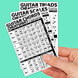 Guitar Cheatsheets Bundle (Chords, Scales, and Triads Cheatsheet 3 Pack • Laminated Pocket Reference 4