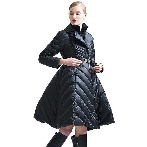Jsix Abrigo de Invierno 90% plumón con Chaquetas para Mujer