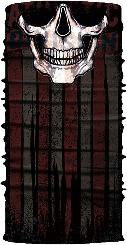 Viottiset Herren Bandana Set Multifunktionstuch Halstuch Schlauchtuch in vielen verschiedenen Designs One Size