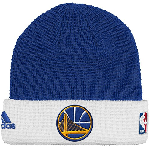 adidas Golden State Warriors NBA 2015 Authentic Team Cuffed Knit Hat by adidas