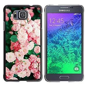 iKiki Tech / Estuche rígido - Bush Pink White Garden Wild - Samsung GALAXY ALPHA G850