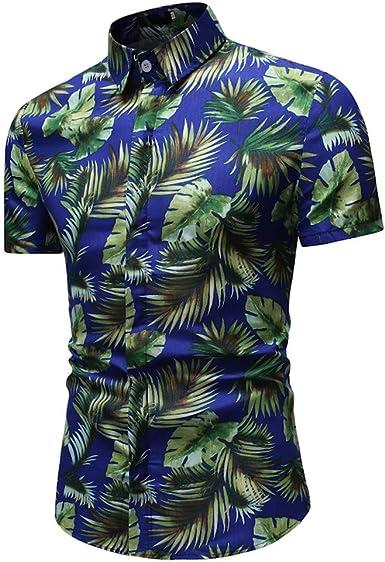 Vectry Moda Hombre Botón Casual Estampado De Hawaii Playa De Manga Corta Blusa Hombre Blusa Hombre Polo Hombre 2019 Verano Camisa Hombre: Amazon.es: Ropa y accesorios