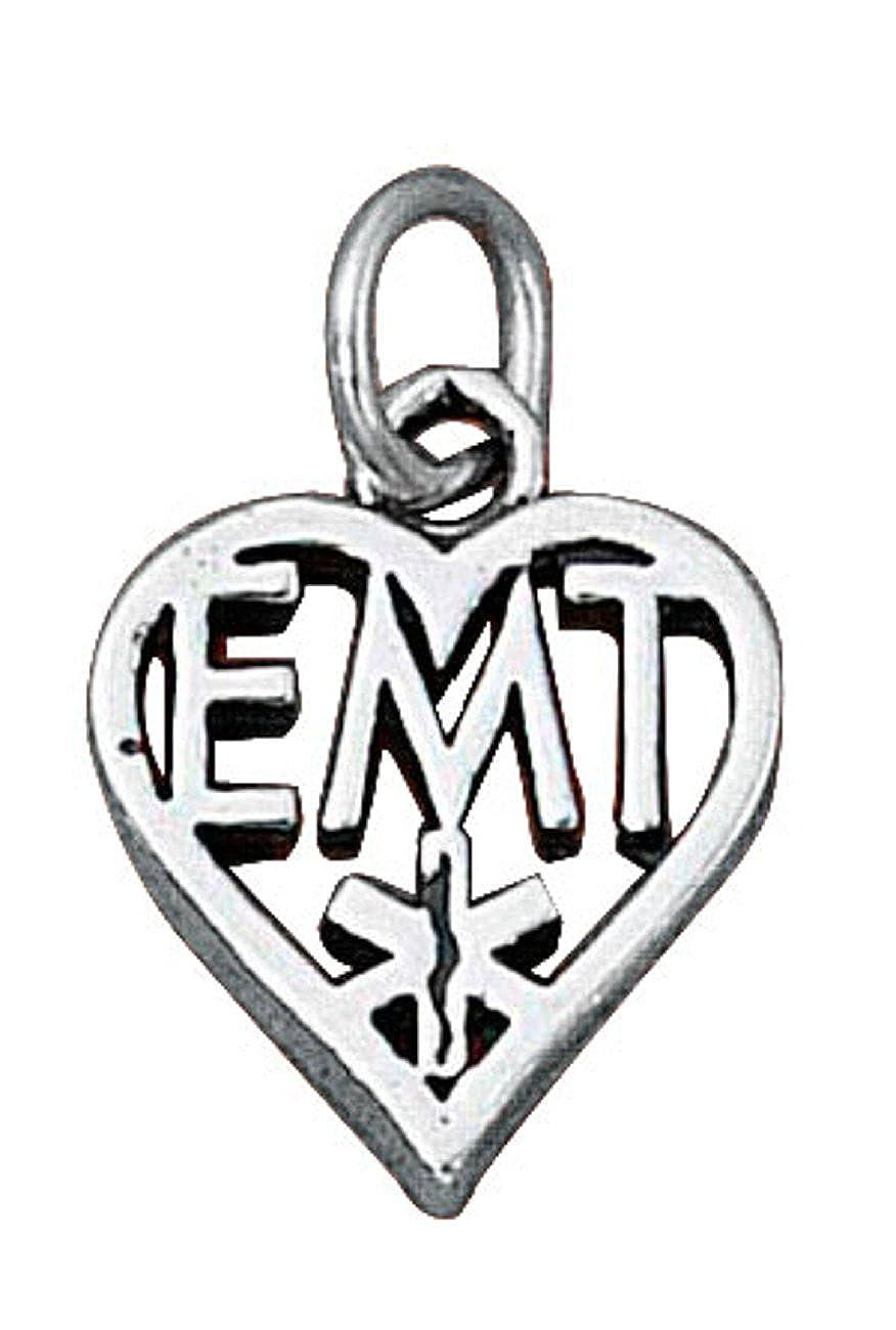 Sterling Silver EMT Emergency Medical Technicians Dangle Charm Bead For Bead Charm Bracelet