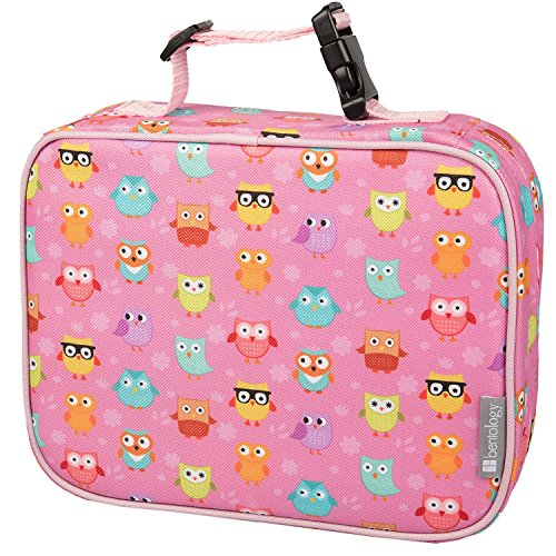 Insulated Lunch Box Sleeve - Securely Cover Your Bento Box - Owl (Buckle Sleeve)