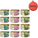 Muse by Purina Masterpieces Natural Canned Wet Cat Food Recipes Variety Pack with Can Topper - 3 Ounces - 3 Flavors - Duck, Quail, and Pheasant (12 Cans Total)