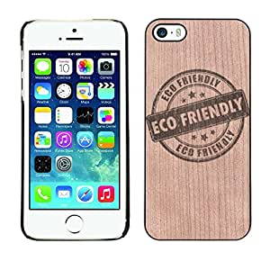 - / Eco Nature Conservation Stamp - - Funda Delgada Cubierta Case Cover de Madera / FOR Apple iPhone 5 5S / Jordan Colourful Shop/