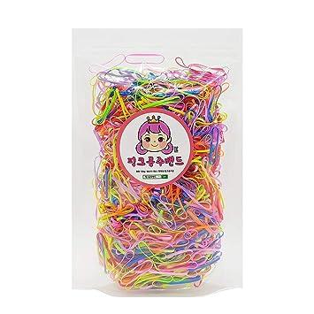 1200 Mixed Color Mini Rubber Elastic Hair Ties Bands Rope Braids Plaits TPU Band