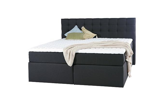 King Boxspringbett 180x200 cm und weitere Größen mit Luxus 7-Zonen Taschenfederkernmatratze Visco-Topper in Härtegrad H2, H3,