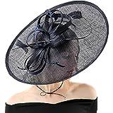 Koola Hatinator Hat Fascinators Church Cocktail Party Wedding Sinamay Women Hats Black