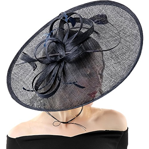 Koola Hatinator Hat Fascinators Church Cocktail Party Wedding Sinamay Women Hats Black by Koola
