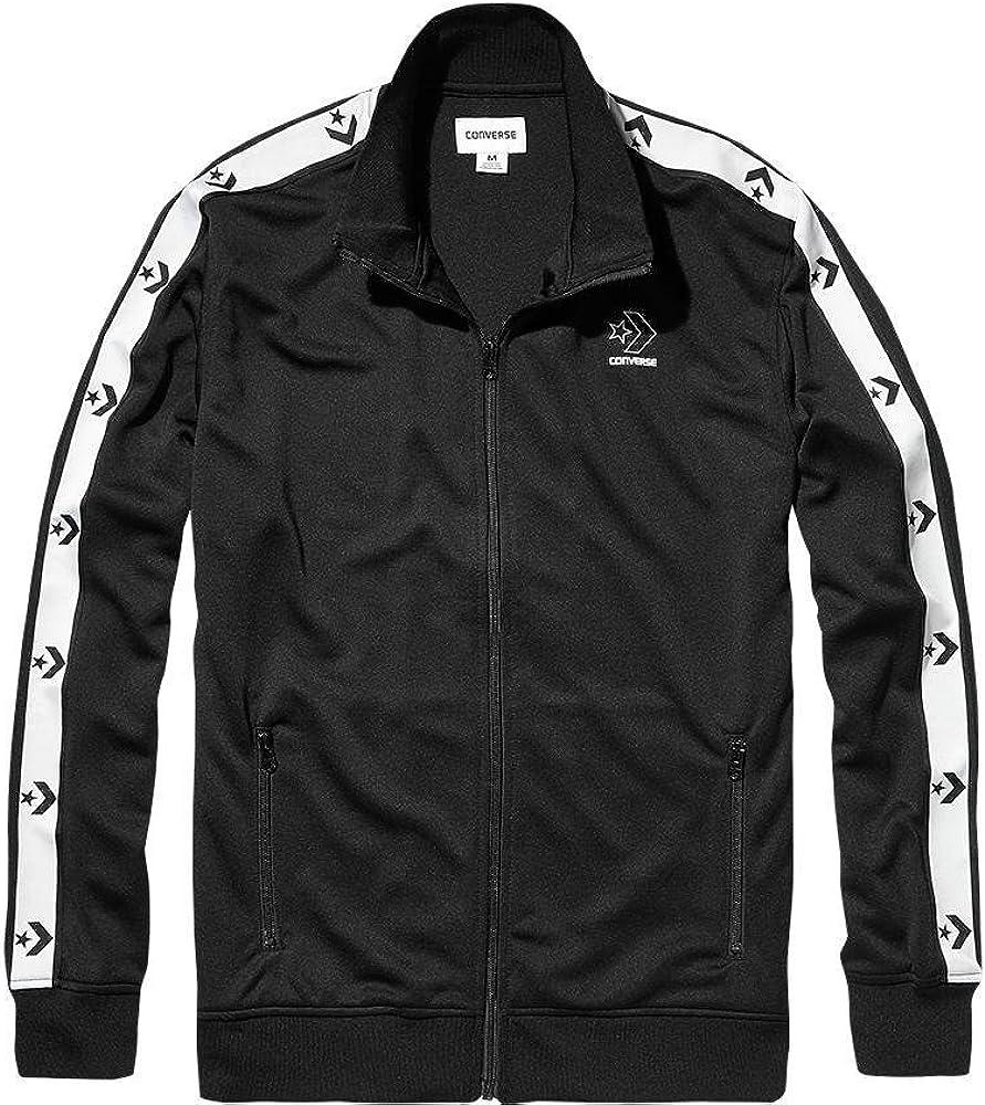 Converse Herren Star Chevron Track Jacket Jacke, Schwarz