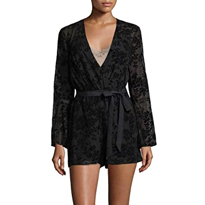 BCBGeneration Women's Bell Sleeve Lace Romper: Clothing