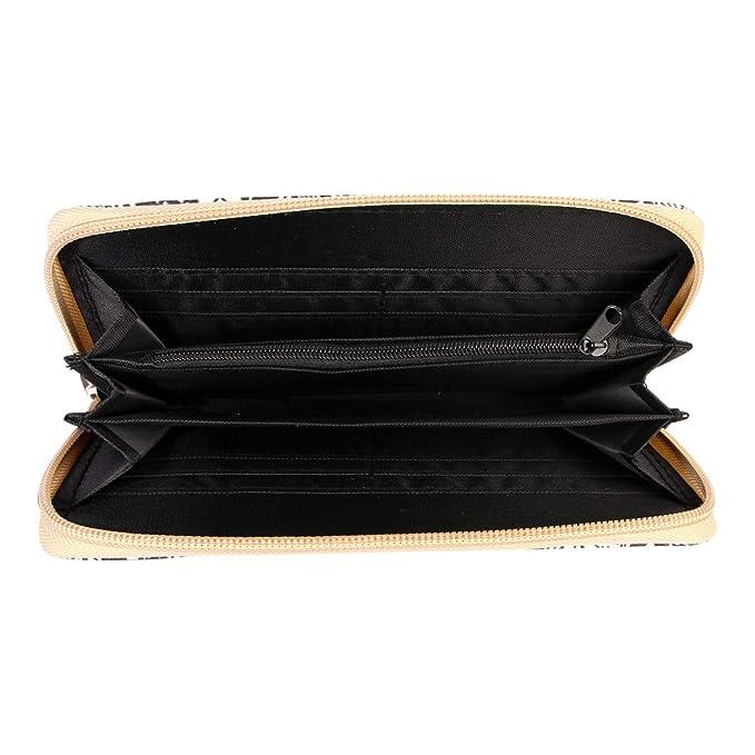 Amazon.com: Monedero largo con cremallera y diseño de ...