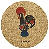 Big Round Cork Trivet Portugal Themed Various Designs (Rooster)